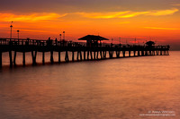 Anglins Fishing Pier at sunrise, Lauderdale by The Sea - March 2015